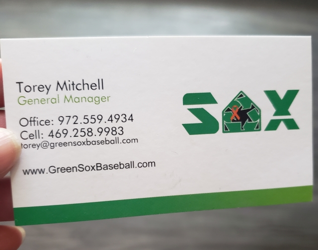 Torey Mitchell | Belligerent Gus Blog | Green Sox Baseball